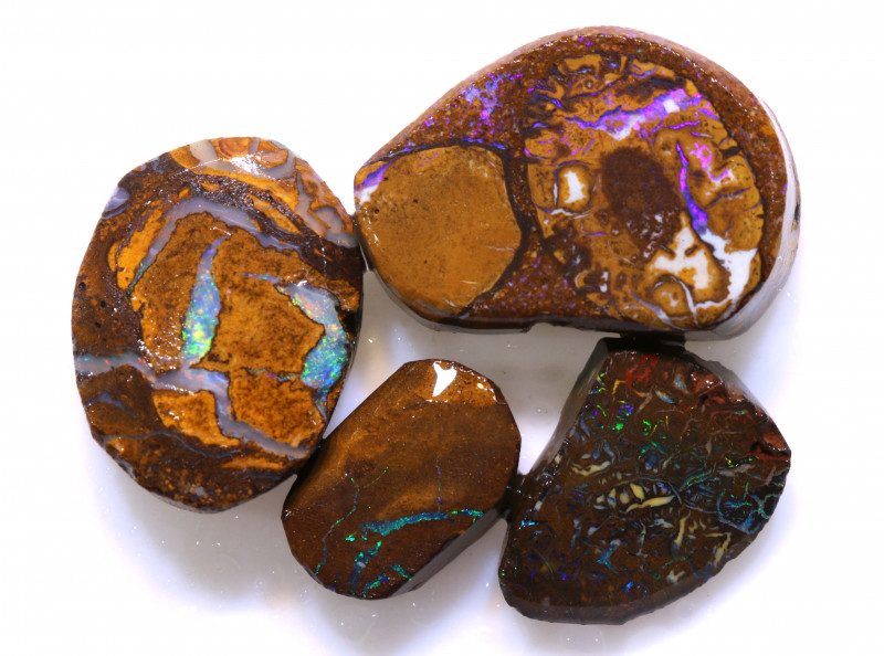 43.40cts koroit opal pre shaped rub parcel ADO-9678  adopals