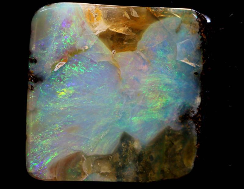 Boulder Opal Polished Stone AOH-808  australianopalhunter