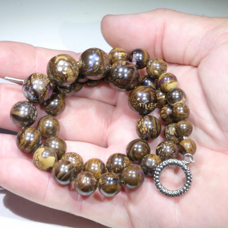 Boulder Opal Matrix Beaded Necklace (45cm Long) Code - NO476