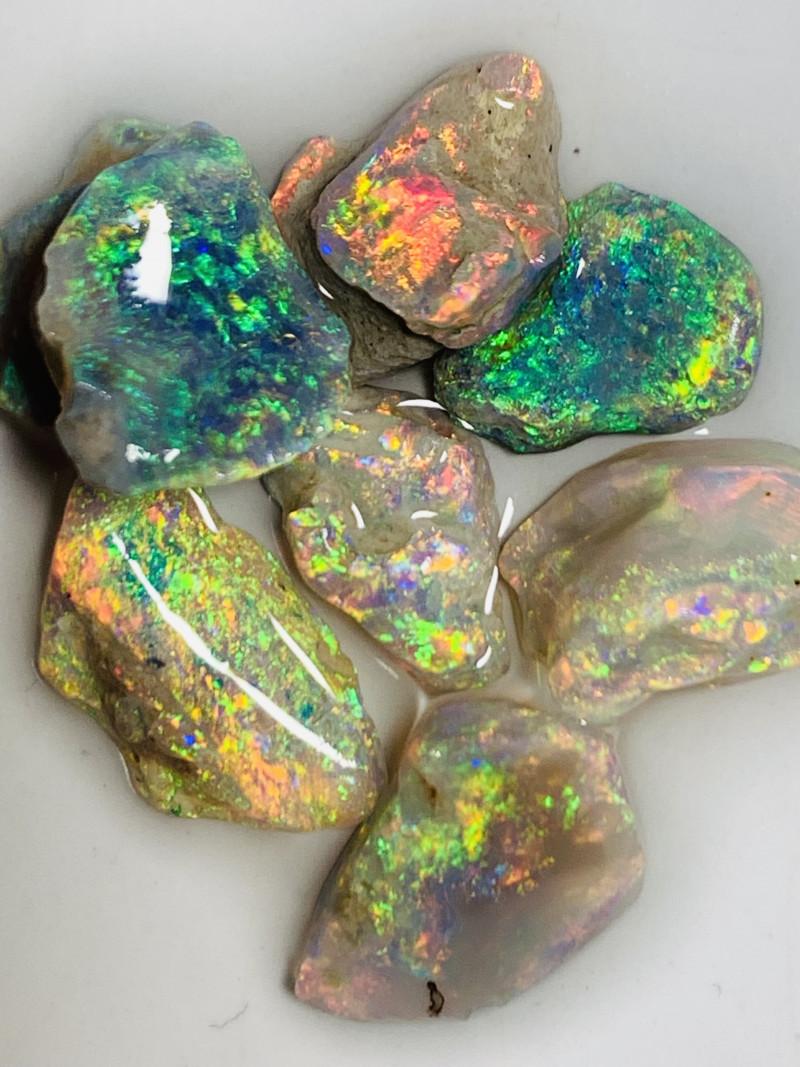 Exquisite Magnificent Multicolour Rough Opals to Cut#702