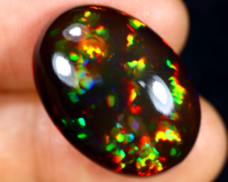 13.10cts Natural Ethiopian Welo Smoked Opal / GBF8895