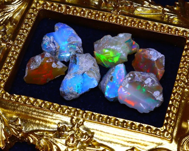 SALES 48.18Ct Multi Color Play Ethiopian Welo Opal Rough Lot G2502/R2