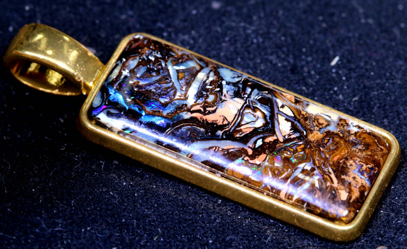 22.46CTS- KOROIT GOLD  PLATED PENDANT   OF-2941  Oplasforever