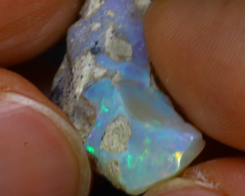 12.86Ct Multi Color Play Ethiopian Welo Opal Rough H0904/R2