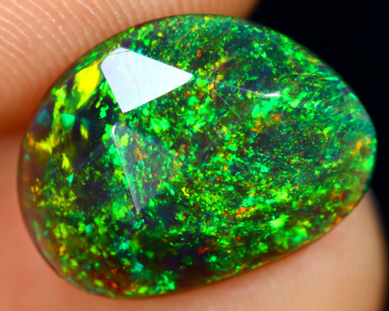 `Rose Cut 2.38cts Natural Ethiopian Smoked Welo Opal /BF9268