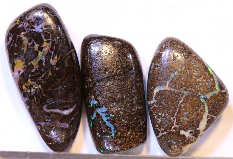 31.10 CTS-Boulder Opal Bead Parcel 3- pcs  Ro-2028   raniopals