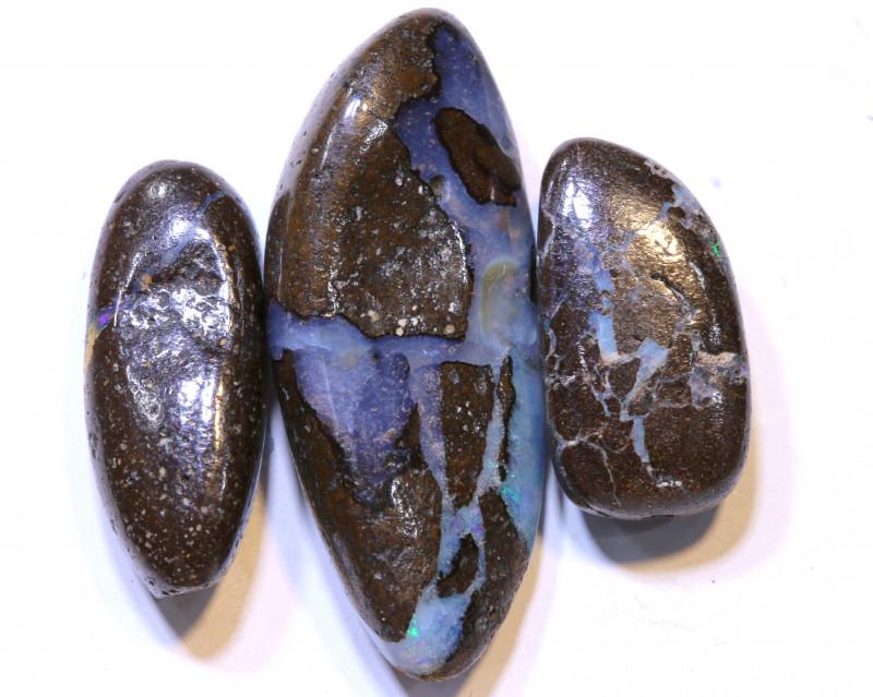 35.95 CTS-Boulder Opal Bead Parcel 3- pcs  Ro-2047  raniopals