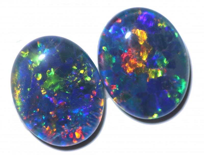 3.30 Cts Australian Gem Opal Triplet Pair    RD 363