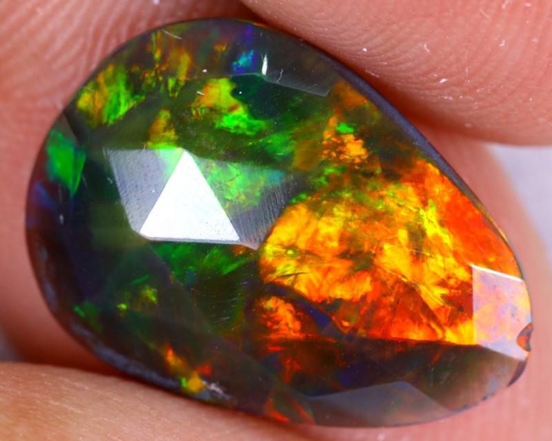 Rose Cut 2.43cts Natural Ethiopian Welo Smoked Opal / NY3641