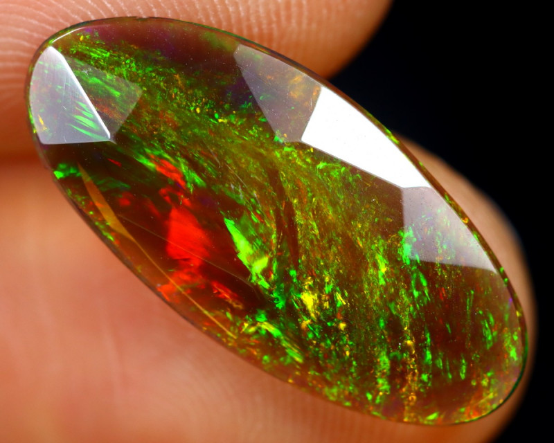 Rose Cut 1.84cts Natural Ethiopian Smoked Welo Opal /BF9284