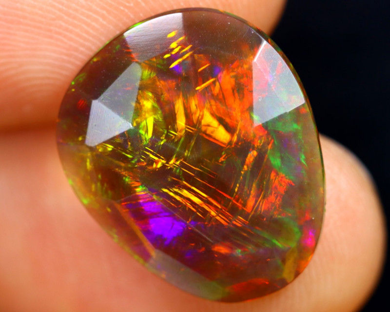 Rose Cut 2.97cts Natural Ethiopian Smoked Welo Opal /BF9294