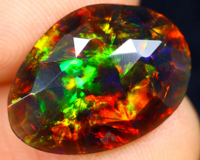 `Rose Cut 3.31cts Natural Ethiopian Smoked Welo Opal /BF9302