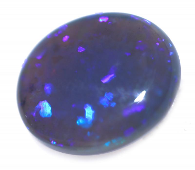 2.80 Cts Nice Oval Shape Black Opal   Code RD 389