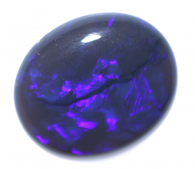 4.60 Cts Nice Oval Shape Black Opal   Code RD 395