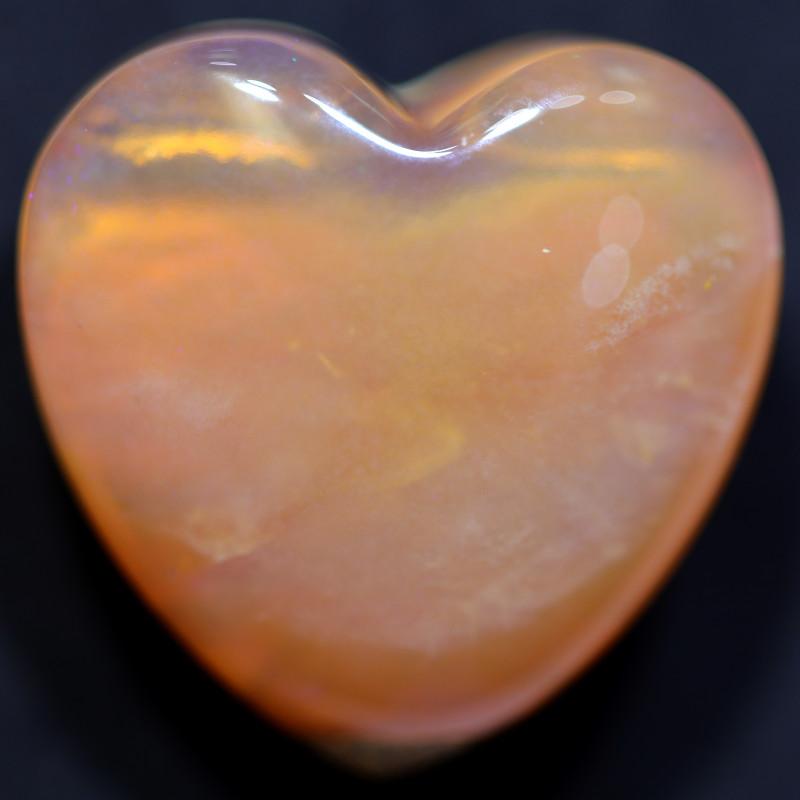 24 CTS HEART SHAPE BOULDER PIPE OPAL WINTON CS840