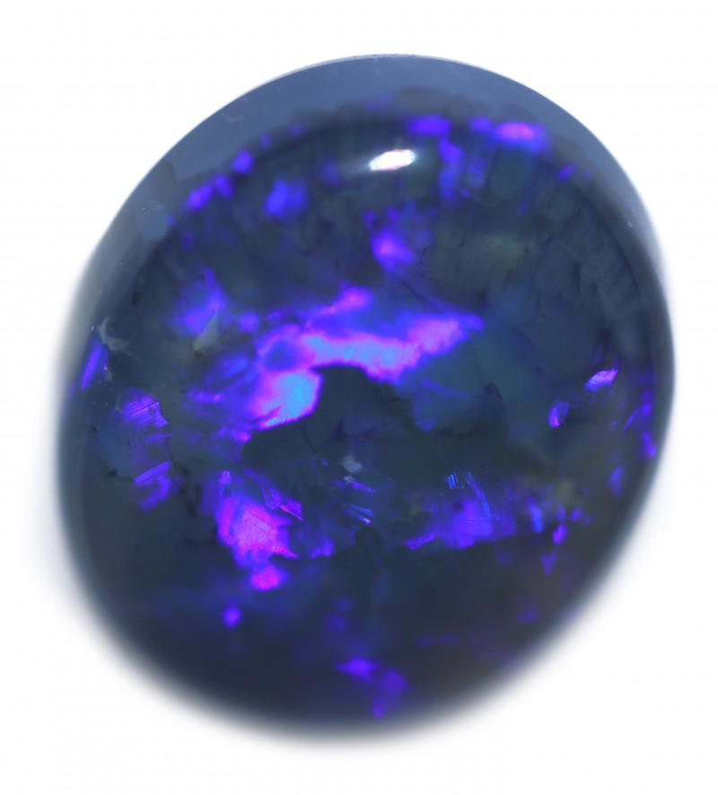 4.55 Cts Nice Oval Shape Black Opal   Code RD 402