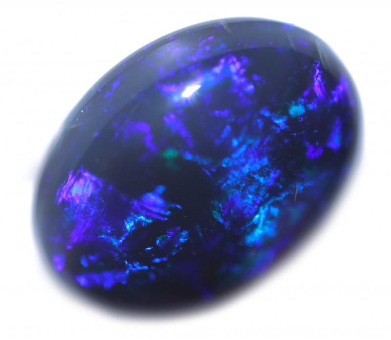 4.30 Cts Nice Oval Shape Black Opal   Code RD 403