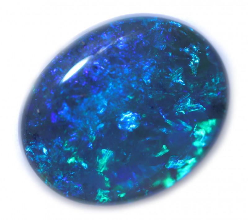 2.50 Cts Nice Oval Shape Black Opal   Code RD 407
