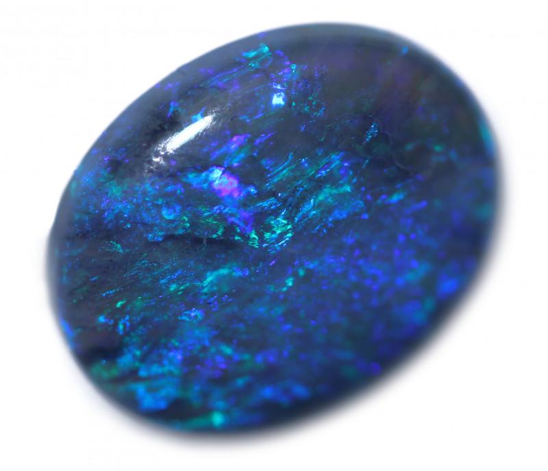 3.50 Cts Nice Oval Shape Black Opal   Code RD 408