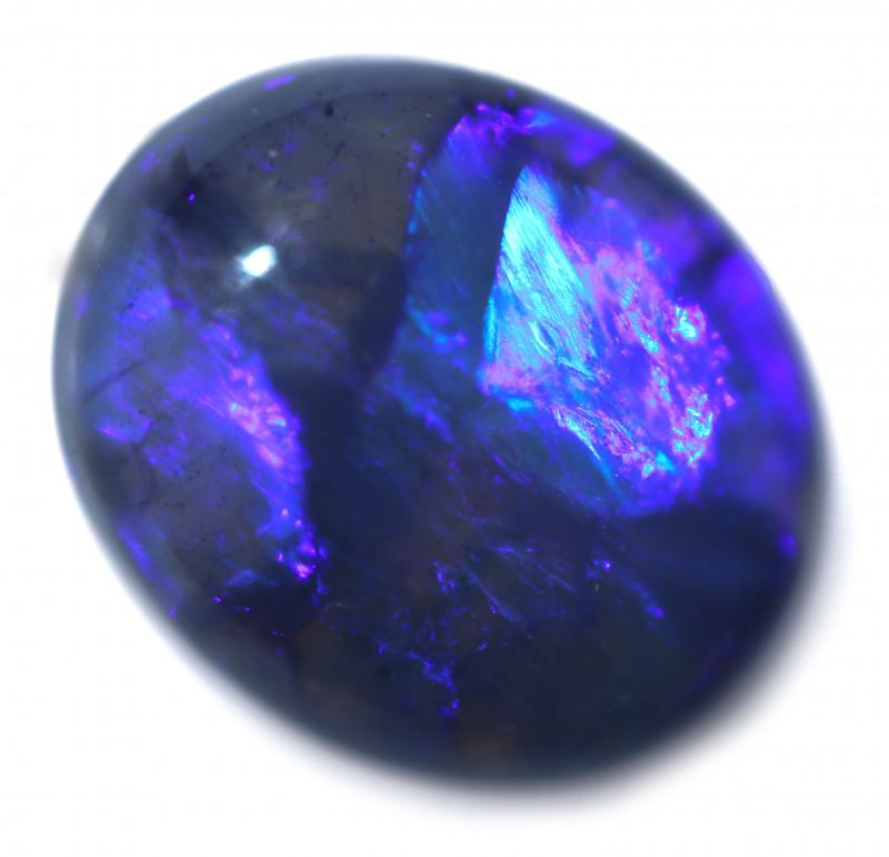 3.55 Cts Nice Oval Shape Black Opal   Code RD 409