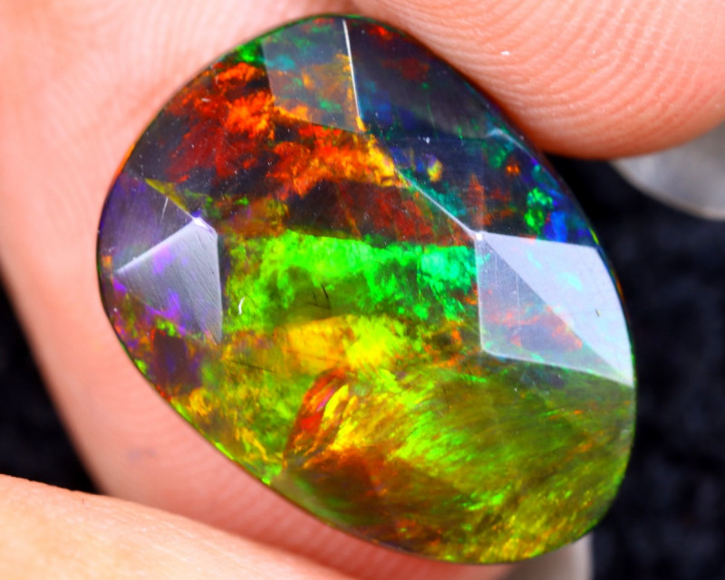 Rose Cut 3.20cts Natural Ethiopian Smoked Welo Opal /BF9314