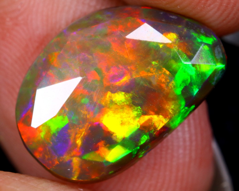 Rose Cut 3.00cts Natural Ethiopian Smoked Welo Opal /BF9319