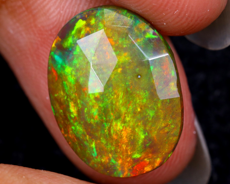 Rose Cut 4.27cts Natural Ethiopian Smoked Welo Opal /BF9327