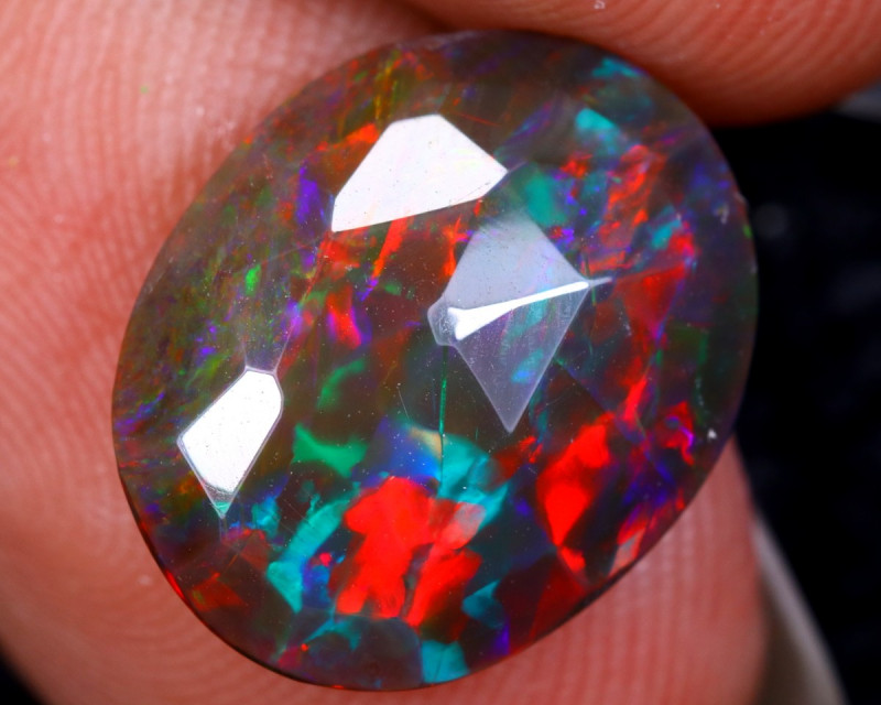 `Rose Cut 2.69cts Natural Ethiopian Smoked Welo Opal /BF9331