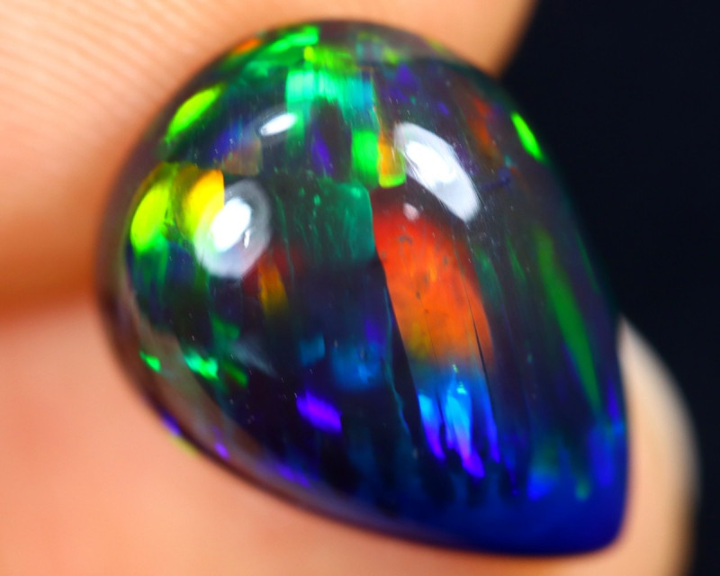 4.19cts Natural Ethiopian Welo Smoked Opal / BF9445
