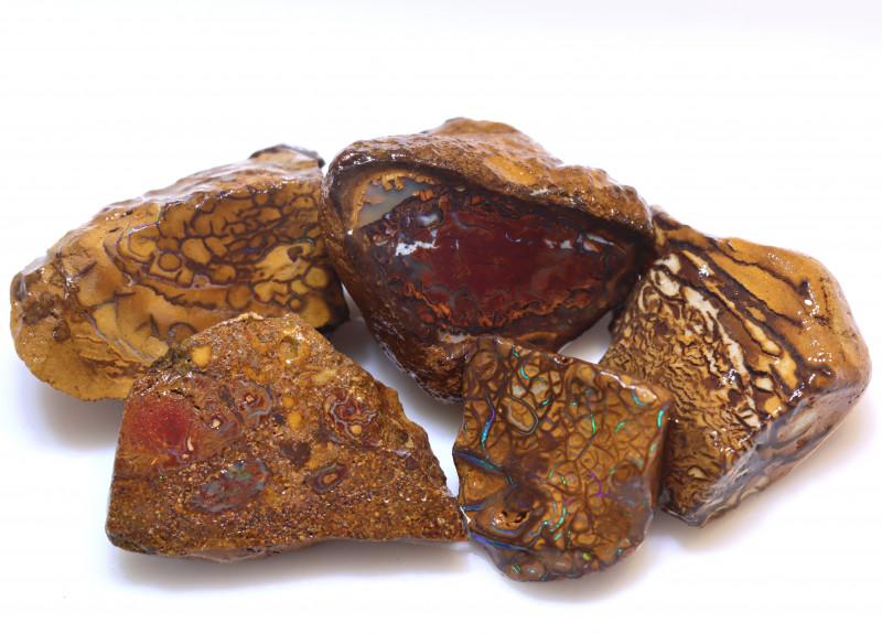 127.82 Carats Yowah  Opal Rough  Parcel ANO-3052