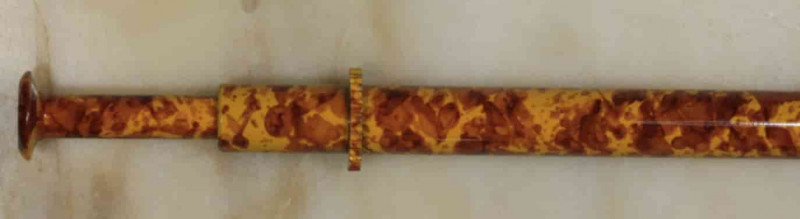 Brass Opal Grabber -Orange