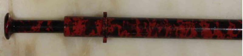Brass Opal Grabber -Red