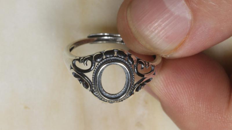 Sam  -Silver 925 Ring Setting  7x6mm [37862]