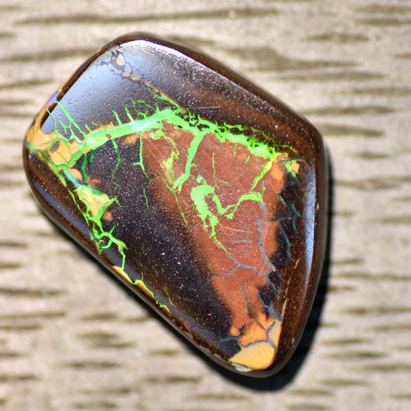14.36cts Boulder Opal - Winton - Green Lightning (RB865)