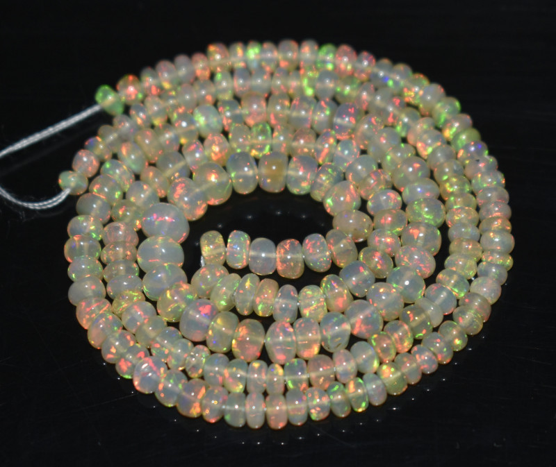 35.30 Ct Natural Ethiopian Welo Opal Beads Play Of Color OB3