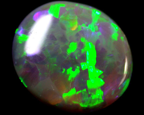 VIDEO LUSTROUS GREEN SHIMMER FIRE BLACK OPAL 1.50 CTS  R1636