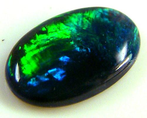 BLACK OPAL IDEAL RING STONE GREEN HUES ..25   CTS   QO 2370