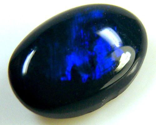 BLACK OPAL IDEAL RING STONE BLUE  HUES . .9   CTS   QO 2383