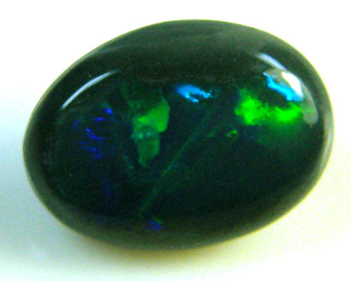BLACK OPAL IDEAL RING STONE GREEN HUES  .90  CTS   QO 2456