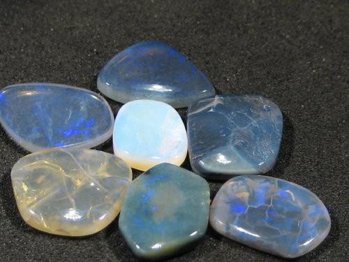 YowahOpals*10.95ct -Black Opal- Parcel - 7 stones