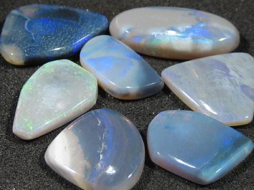 YowahOpals*10.90ct -Black Opal- Parcel - 7 stones