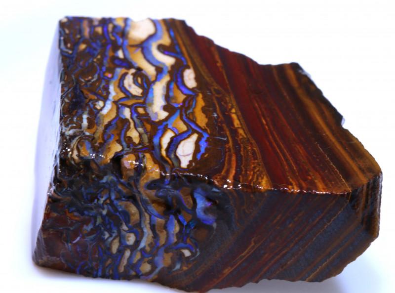 139.40 cts Yowah Opal Rough Slice D-122   Daviddarbyopals