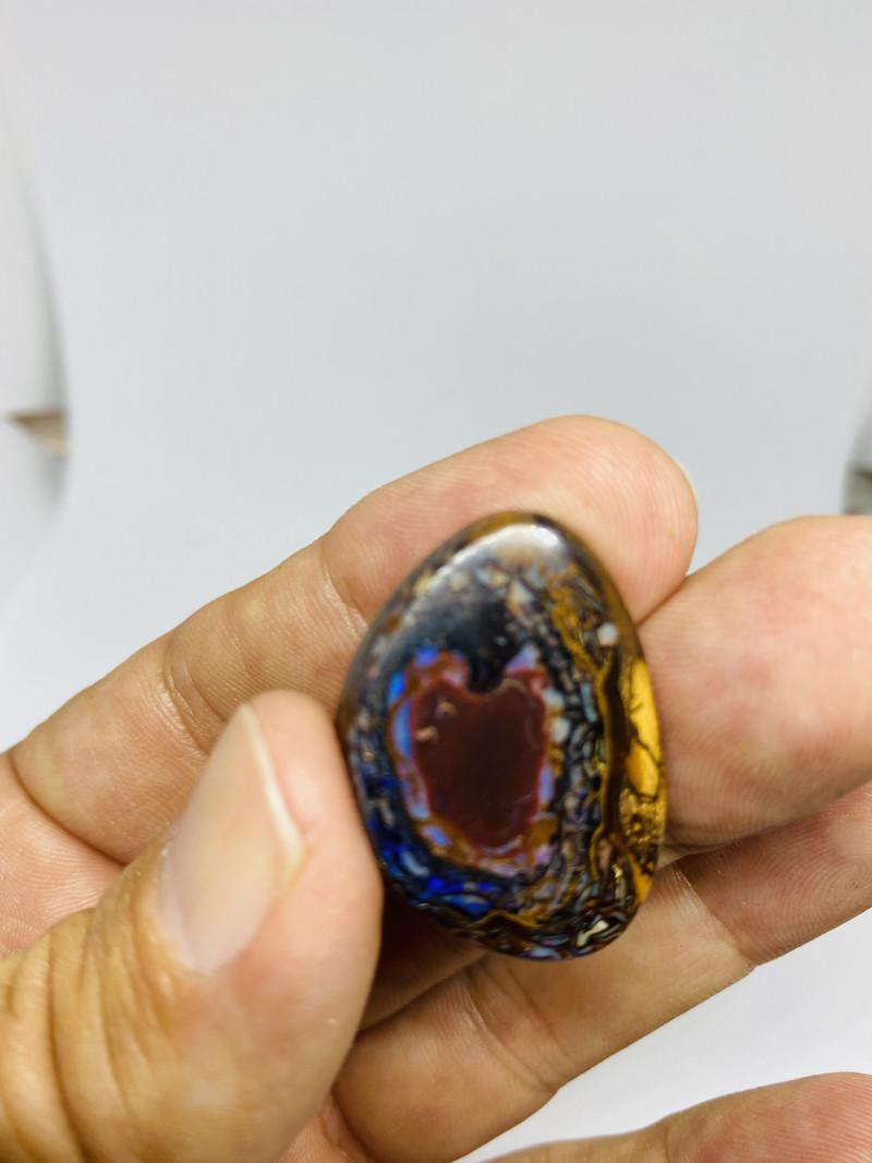 Yowah nut Freeform Cabochon with rare heart shape centre