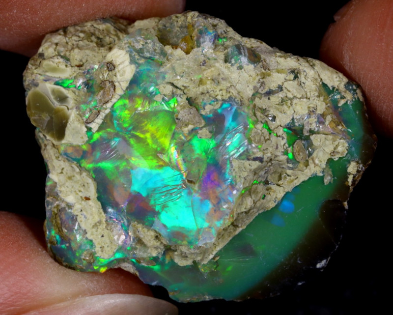 21cts Natural Ethiopian Welo Rough Opal / WR9719