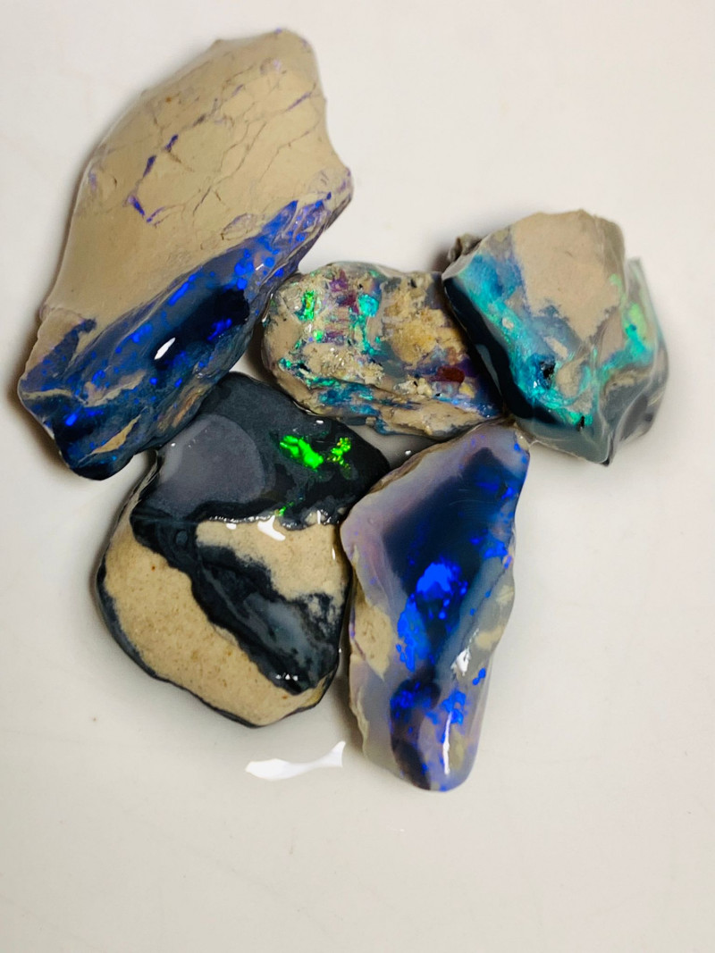 78 Cts of Black Rough Nobby Opals to Cut, Carve & Polish