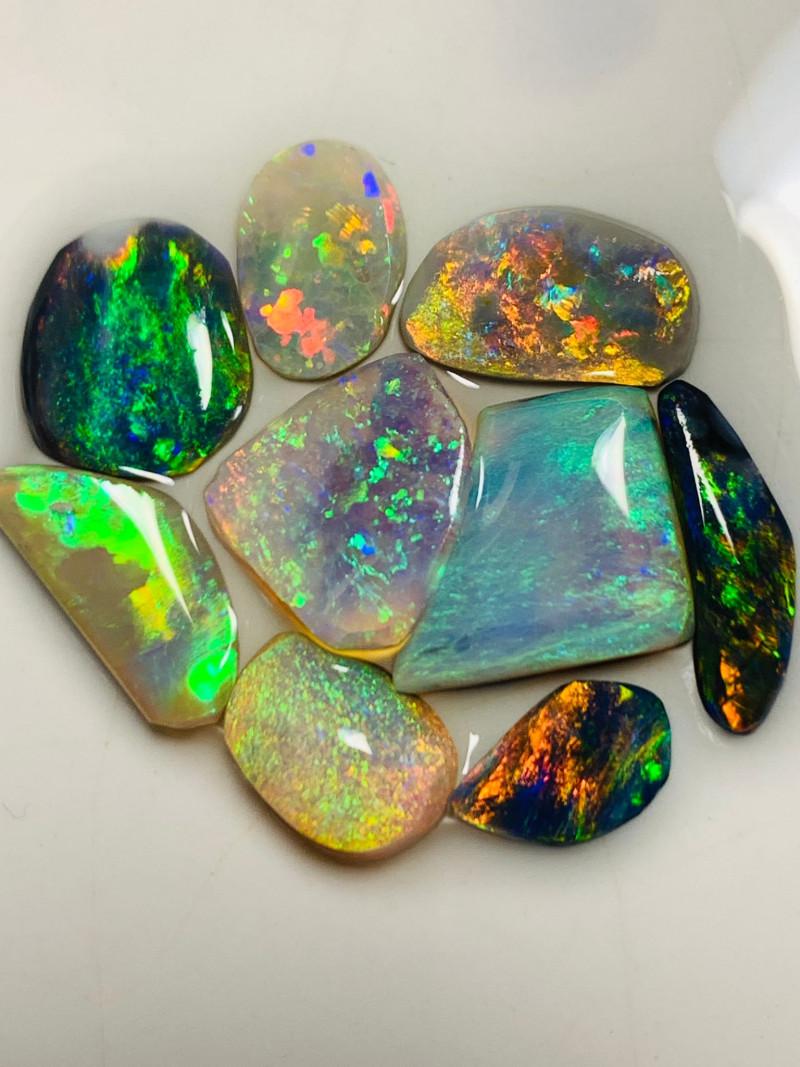 RRP $2400 - Clean Multicolour Jewelry Grade Bright Opal Rubs