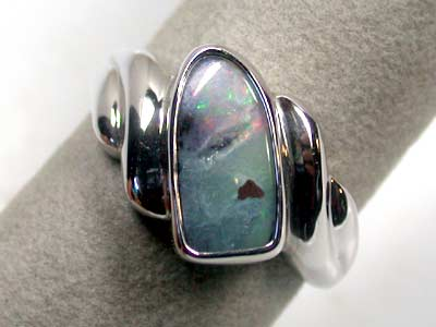 NATURAL BOULDER OPAL STERLING SILVER RING SIZE 15 SCO985
