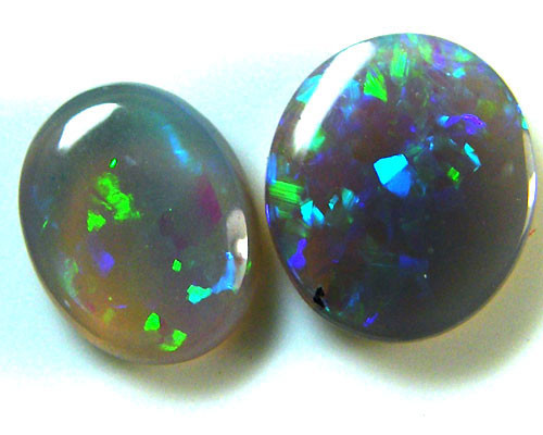 2 MATCHING  CUT FIRE OPALS  1.75  CARATS  MY278