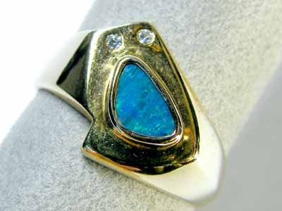 GOLD PLATED SILVER DOUBLET RING SIZE  9    SCA1461