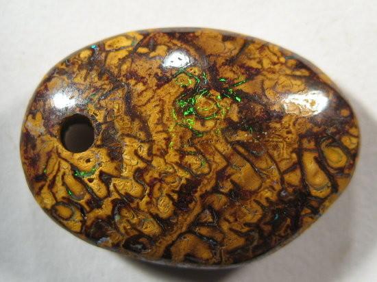 YowahOpals*11.00ct - Boulder Opal  ^ Drilled PENDANT^